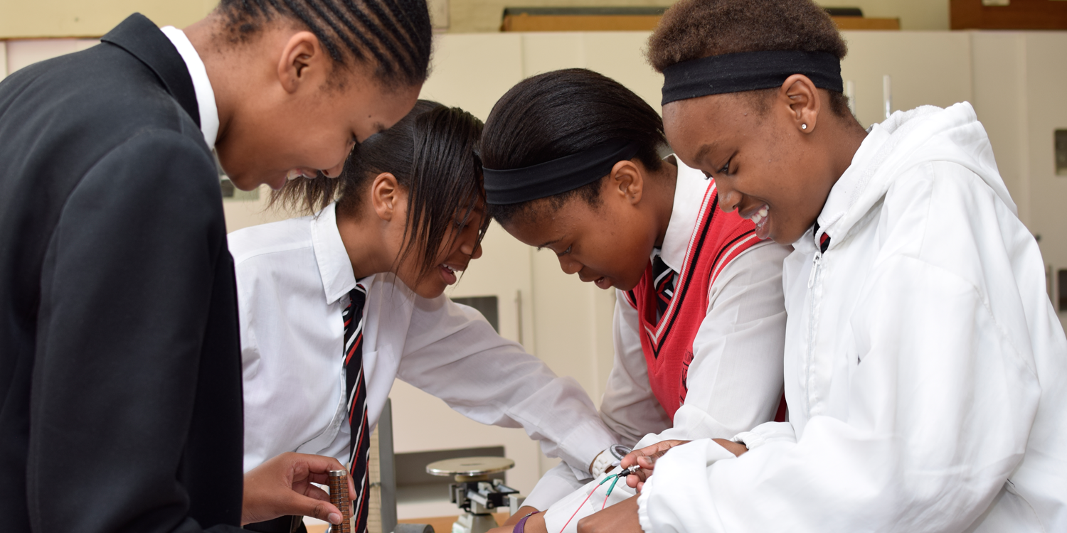 Vector Students in the Science Lab